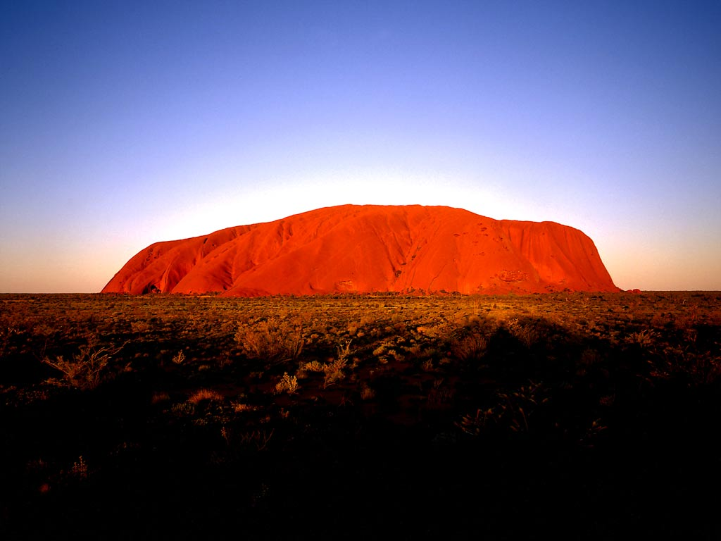 Navel &;ayers rock&;. too famous mono rock in northern territory